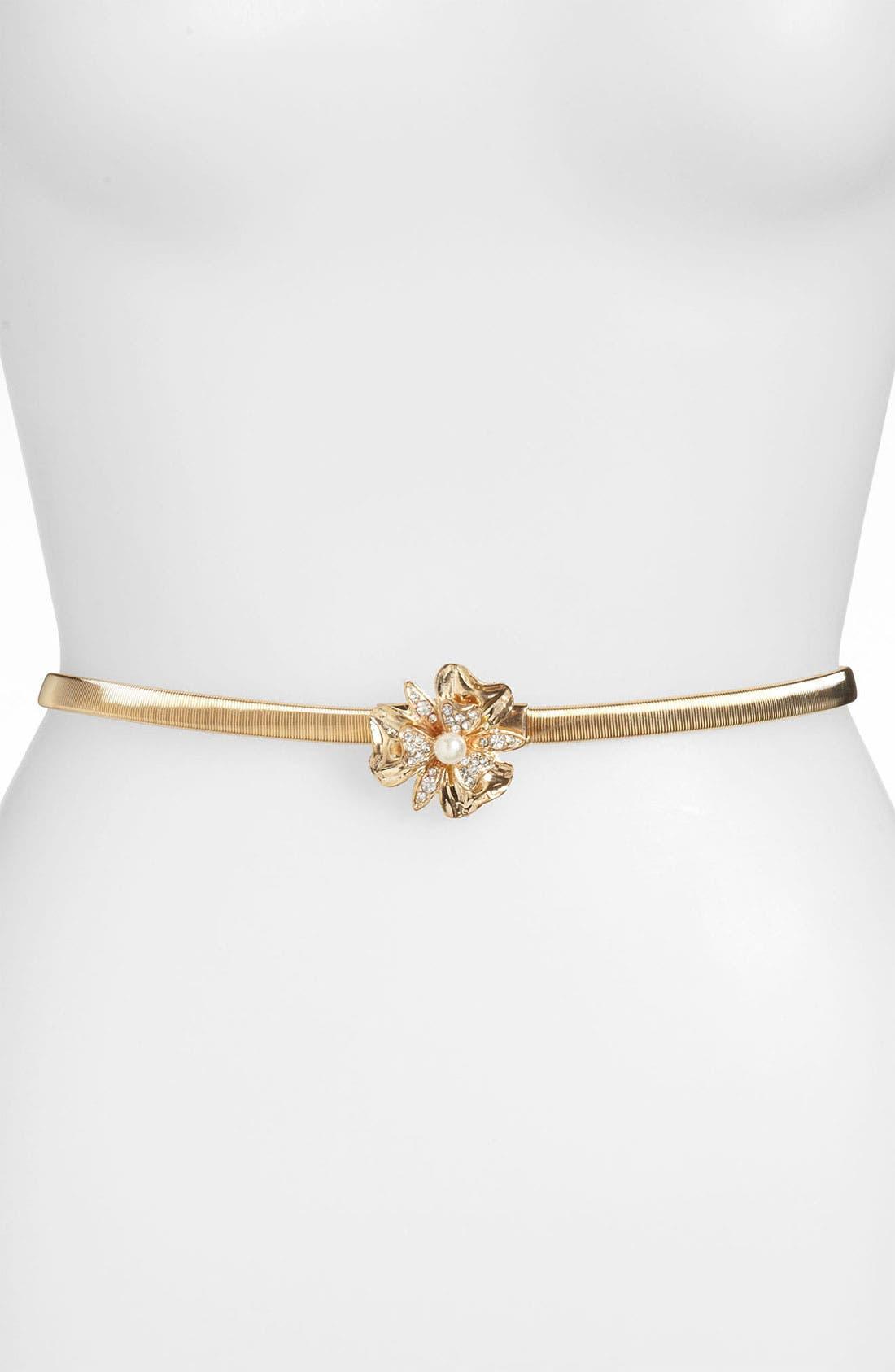 Main Image - Lulu Metal Stretch Skinny Belt
