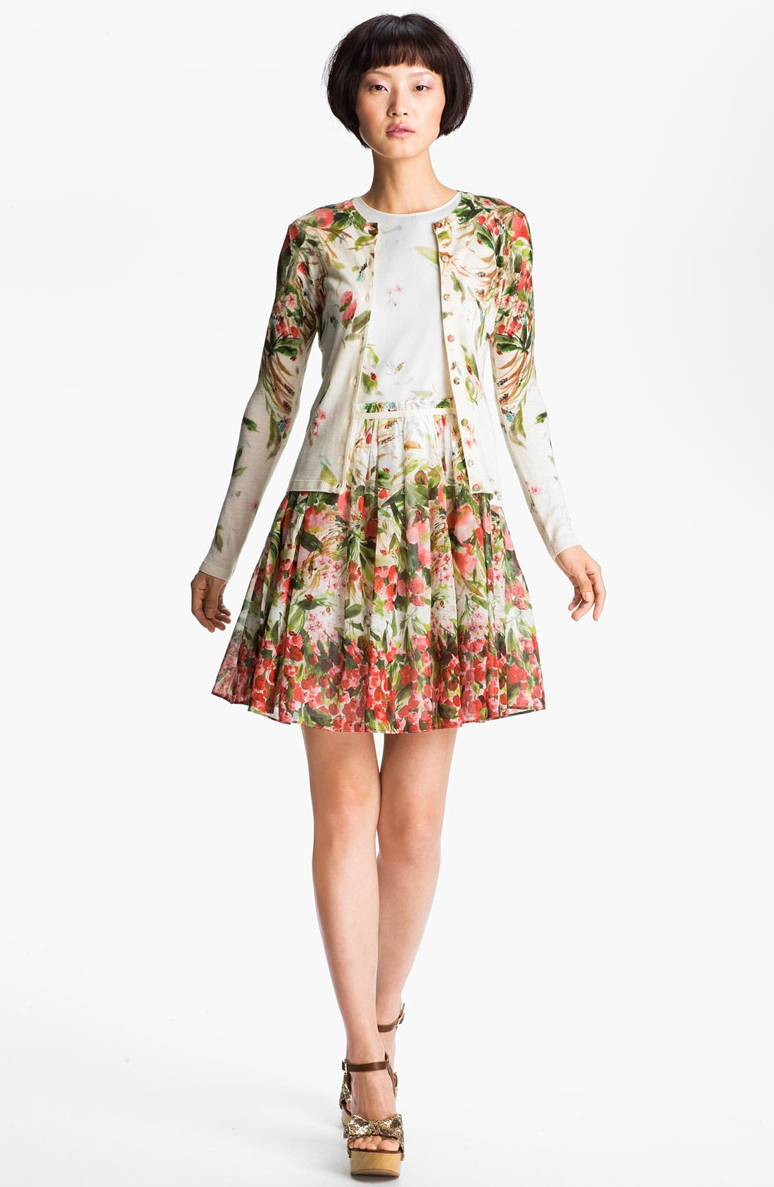 Alternate Image 1 Selected - RED Valentino Print Cardigan