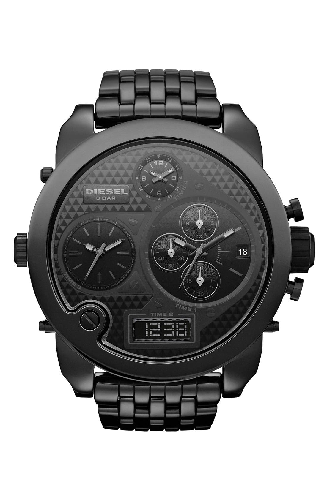 Alternate Image 1 Selected - DIESEL® 'Mr. Daddy' Large Round Ceramic Watch
