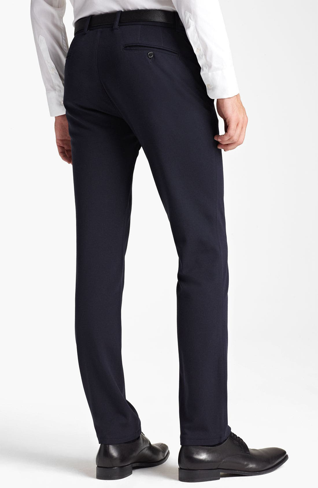Alternate Image 2  - Armani Collezioni Jersey Stretch Slim Fit Trousers