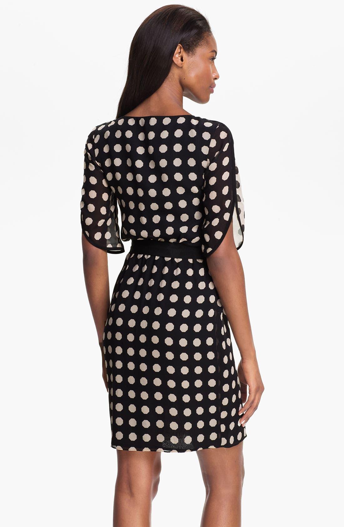Alternate Image 2  - Trina Turk 'Miss Taro' Dot Print Silk Dress