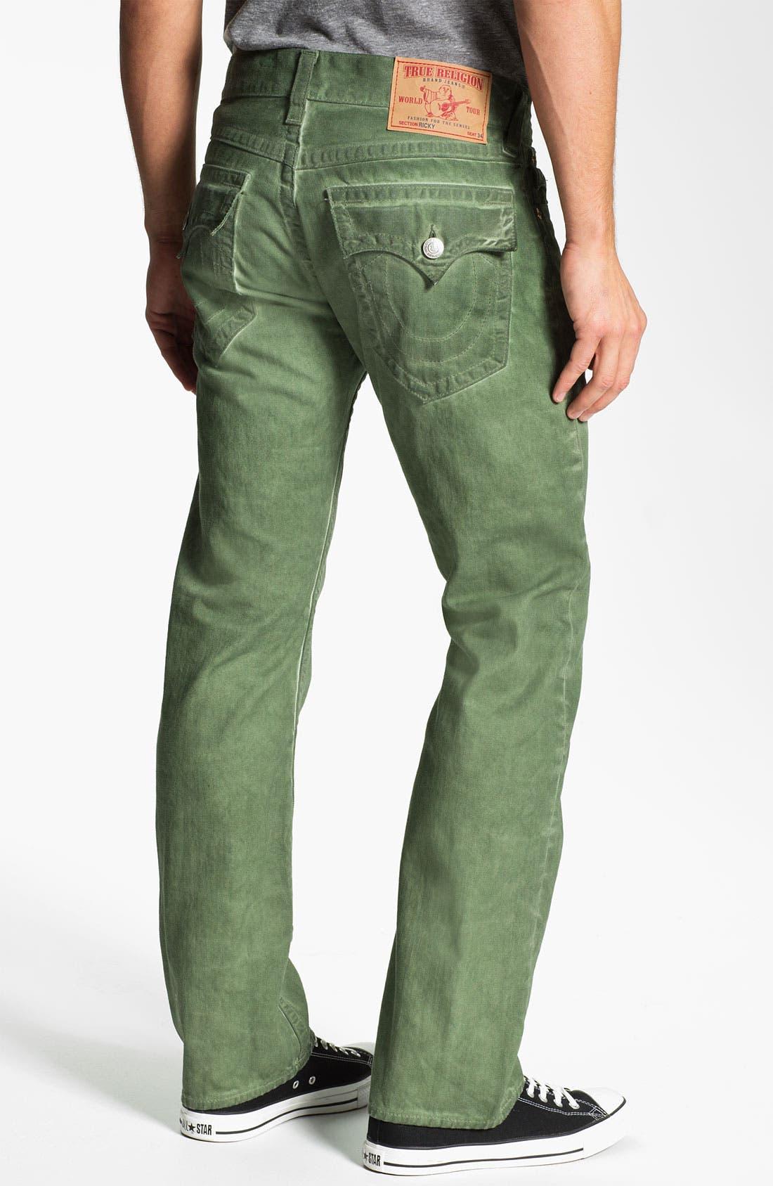 Main Image - True Religion Brand Jeans 'Ricky' Straight Leg Jeans (Mustard Yellow)