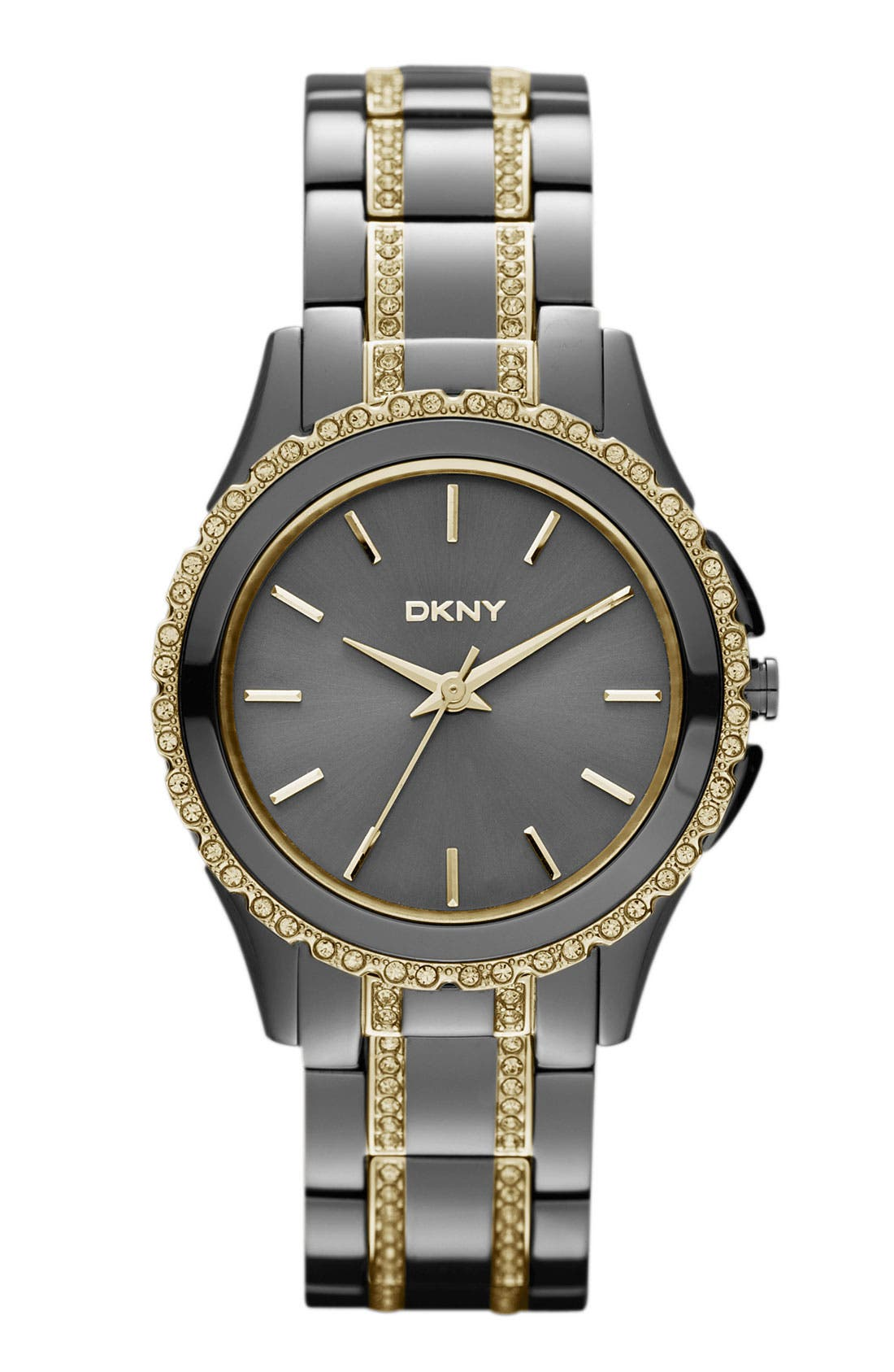 Alternate Image 1 Selected - DKNY Crystal Detail Bracelet Watch, 33mm