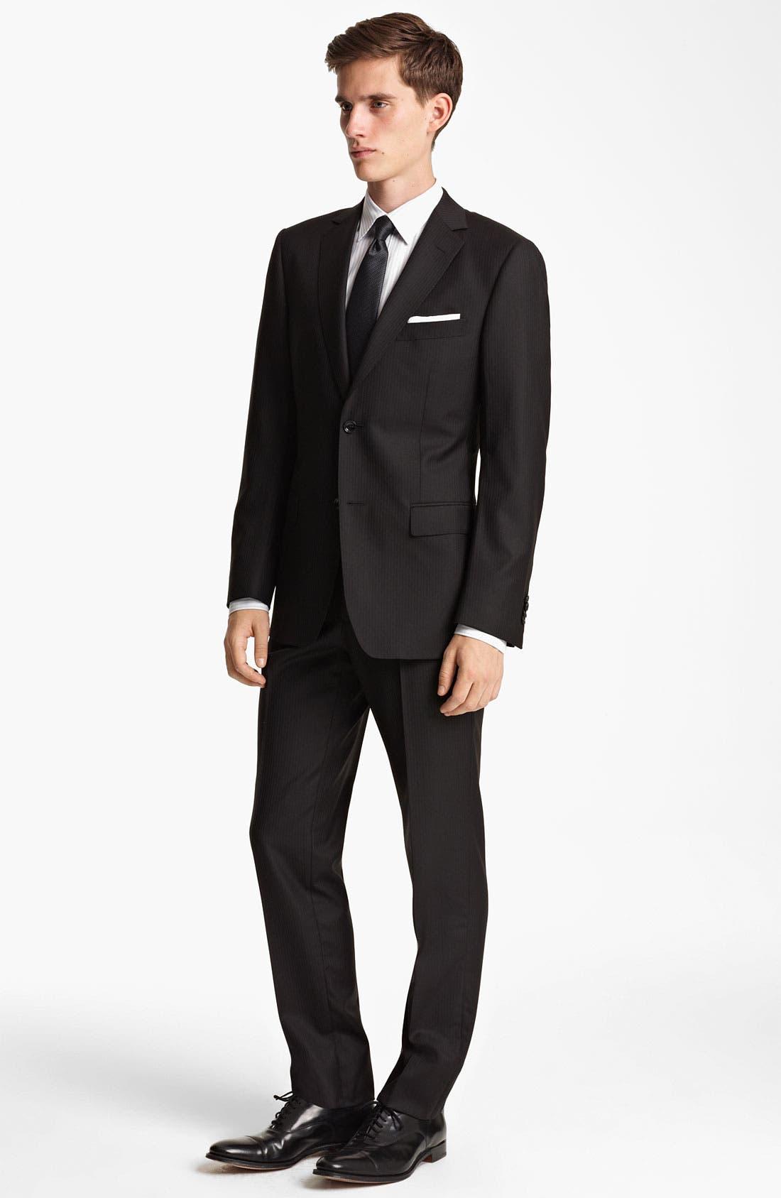 Alternate Image 2  - Z Zegna Trim Fit Herringbone Suit