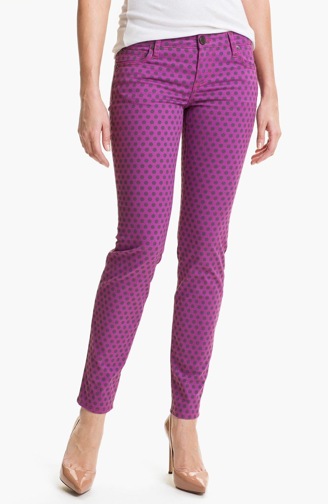 Main Image - KUT from the Kloth 'Diana' Polka Dot Skinny Jeans