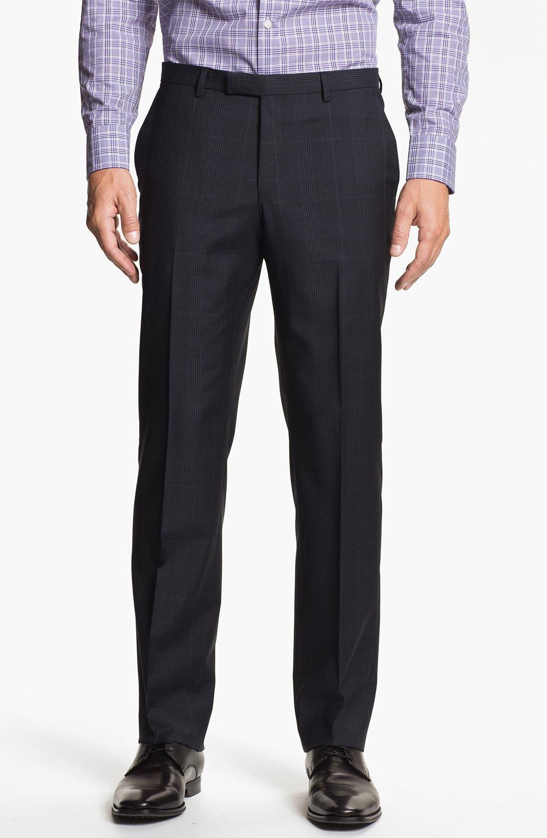 Alternate Image 4  - BOSS Black 'Jam/Sharp' Trim Fit Plaid Suit