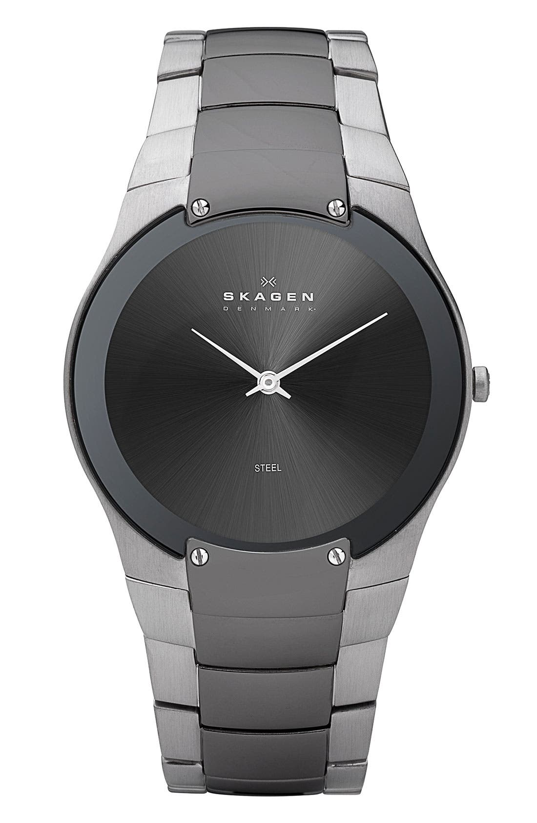 Main Image - Skagen Round Bracelet Watch, 39mm