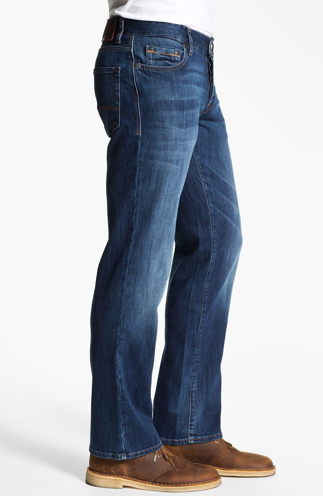 Alternate Image 3  - BOSS Orange Regular Straight Leg Jeans (Bright Blue)
