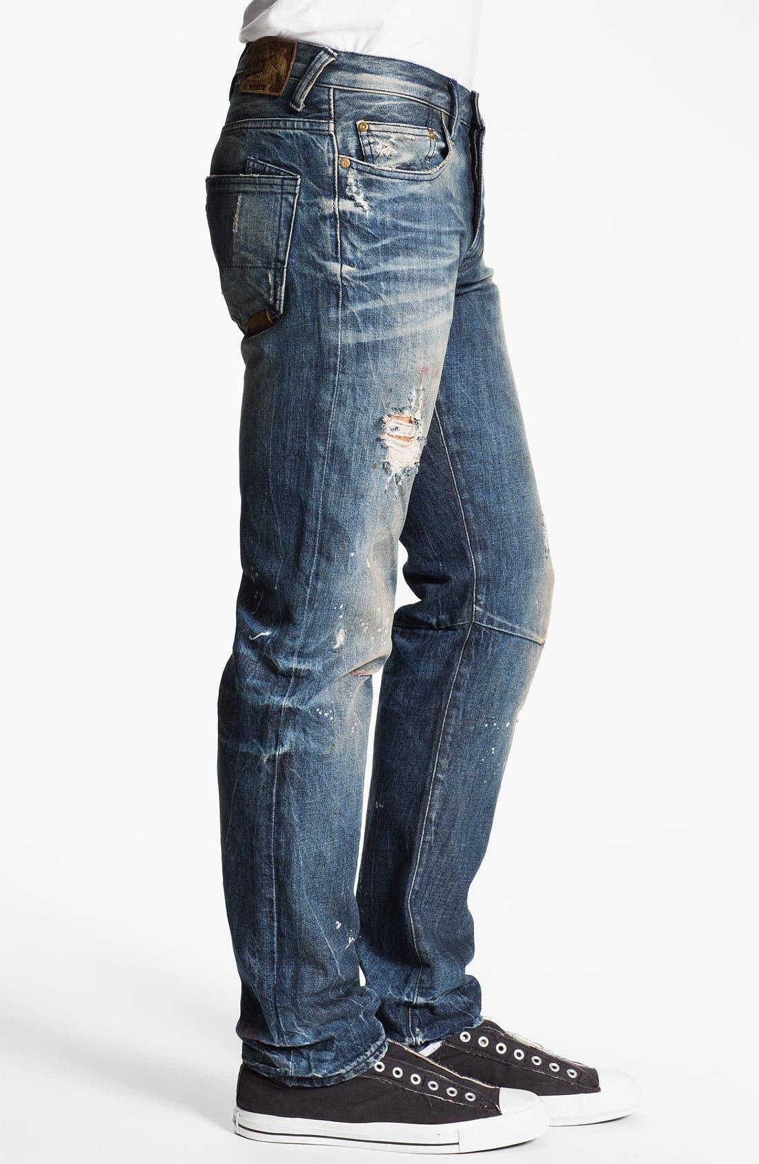 Alternate Image 3  - PRPS 'Tibetan Ladder Rambler' Slim Straight Leg Jeans (Indigo)