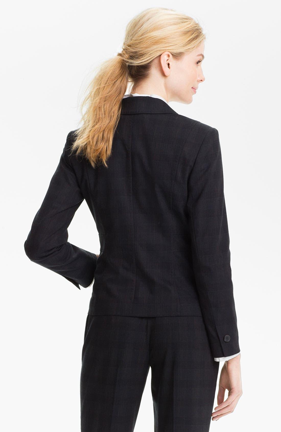 Alternate Image 2  - Halogen® Plaid Jacket (Petite)