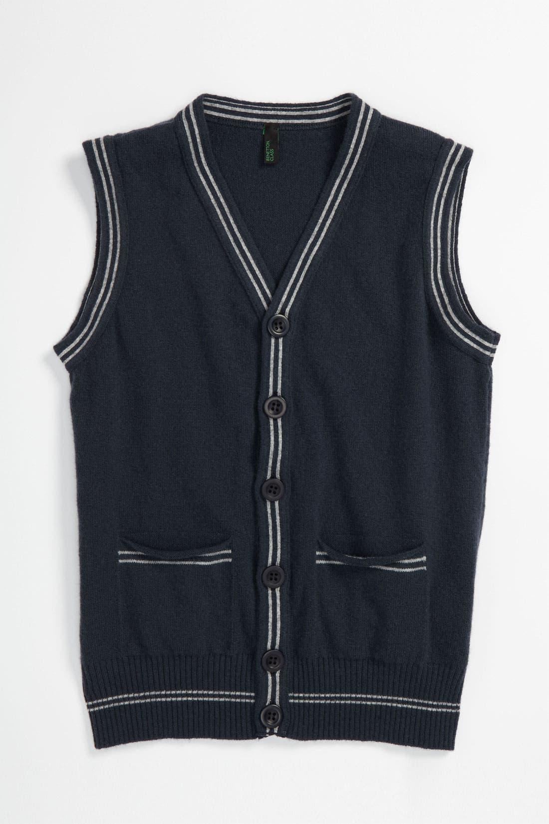 Alternate Image 1 Selected - United Colors of Benetton Kids Sweater Vest (Little Boys & Big Boys)