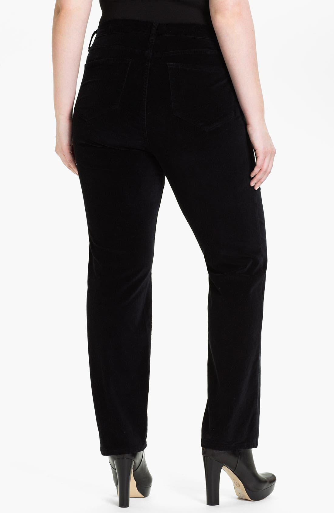 Alternate Image 2  - NYDJ 'Sheri' Skinny Stretch Velveteen Jeans (Plus)
