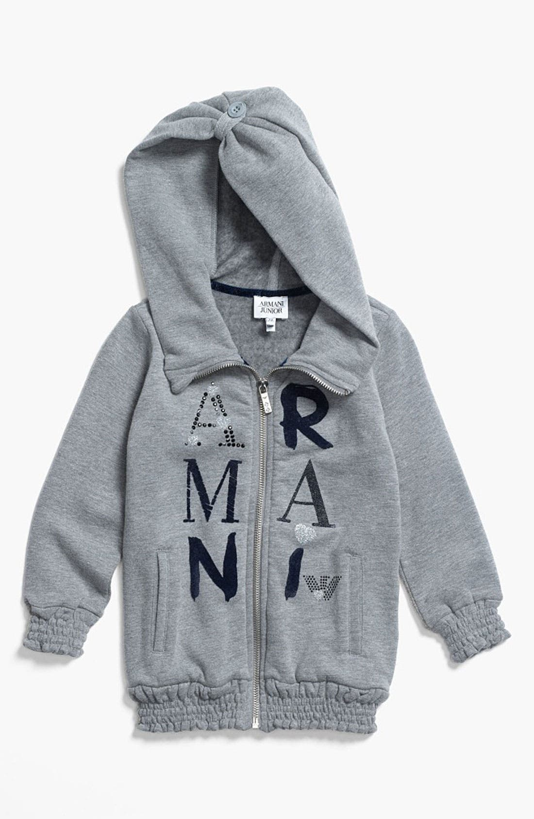 Main Image - Armani Junior Hoodie (Toddler)