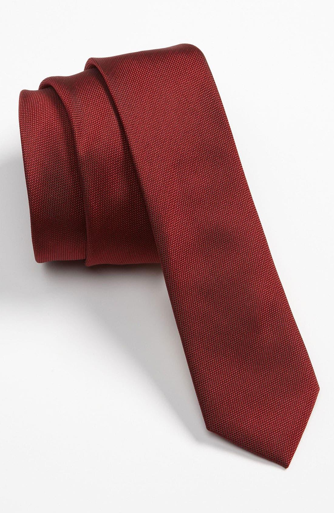 Alternate Image 1 Selected - Topman Narrow Textured Tie