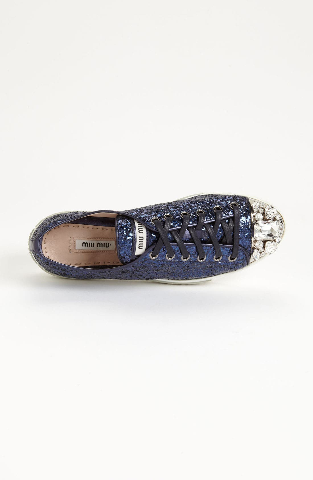 Alternate Image 3  - Miu Miu Glitter Crystal Toe Sneaker