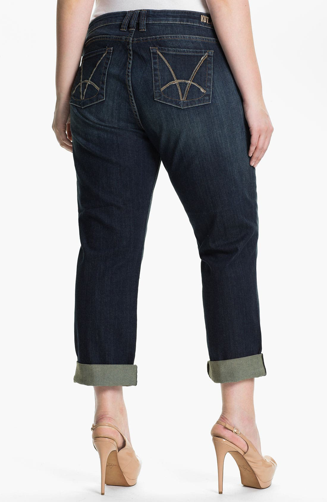Alternate Image 2  - KUT from the Kloth 'Catherine' Slim Boyfriend Jeans (Plus Size)