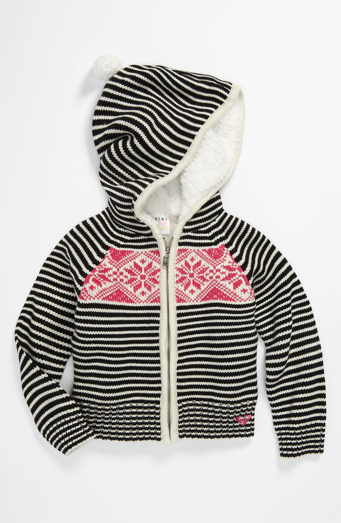 Alternate Image 1 Selected - 'Frozen Toes' Stripe Sweater (Little Girls)