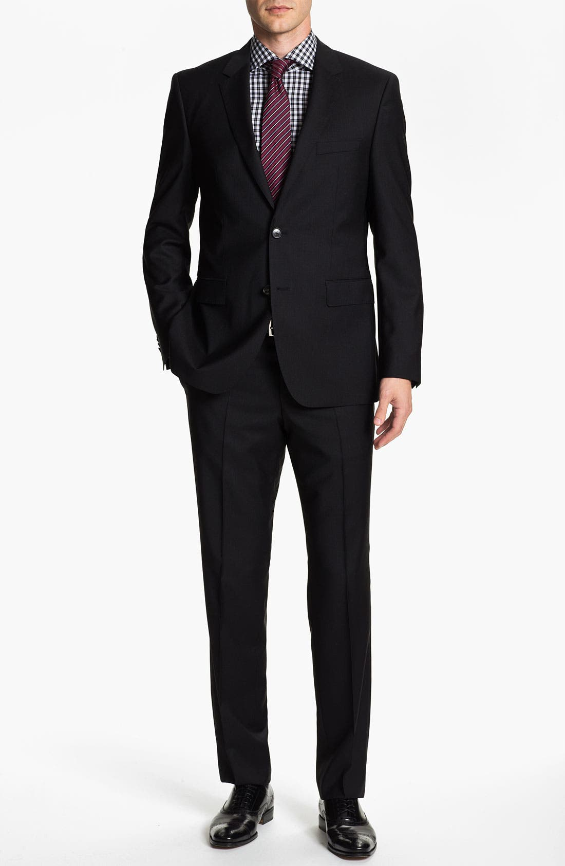 Alternate Image 2  - BOSS Black 'Jam/Sharp' Trim Fit Stripe Suit
