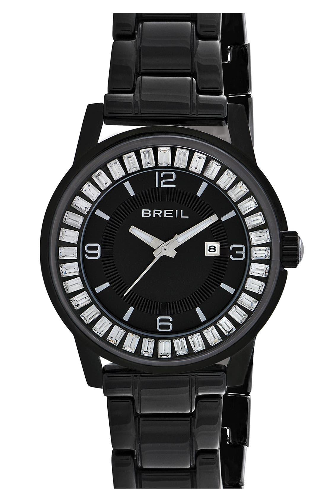 Main Image - Breil 'Orchestra' Baguette Crystal Ceramic Bracelet Watch, 40mm ($450 Value)