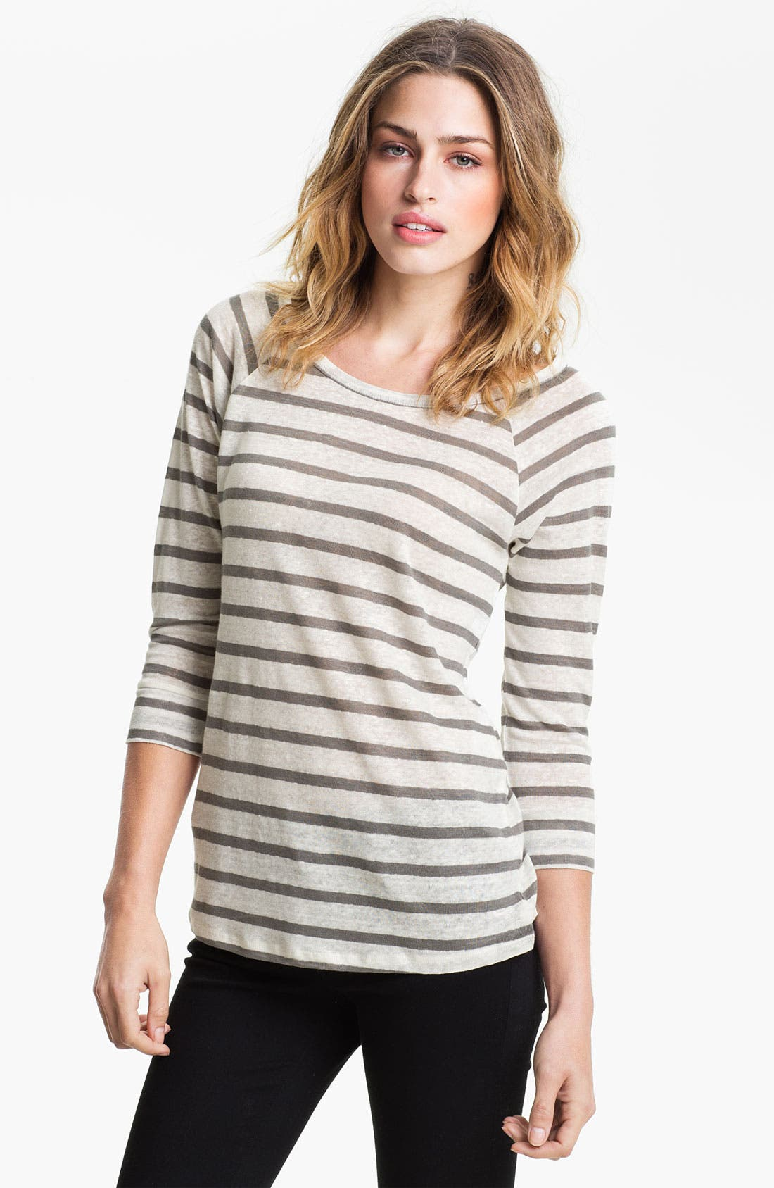 Alternate Image 1 Selected - Joie 'Alpine' Stripe Linen Top