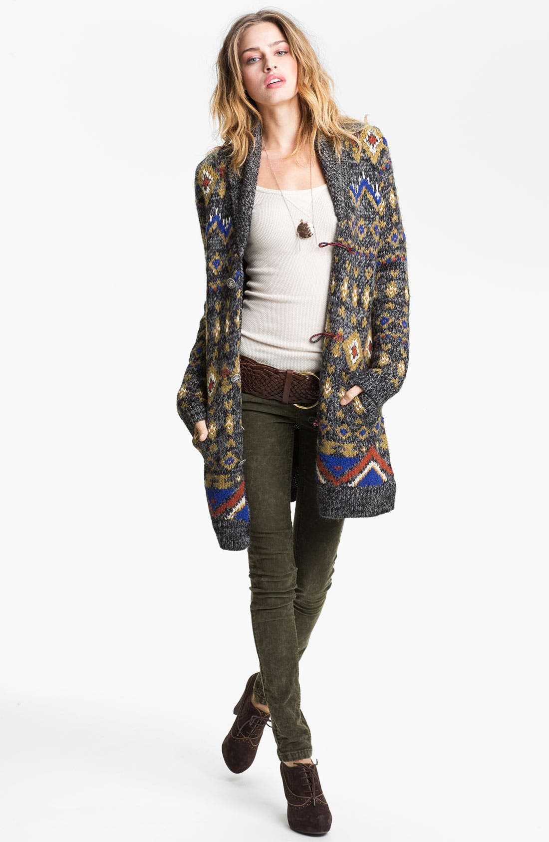 Alternate Image 1 Selected - Free People 'City Is a Jungle' Cardigan