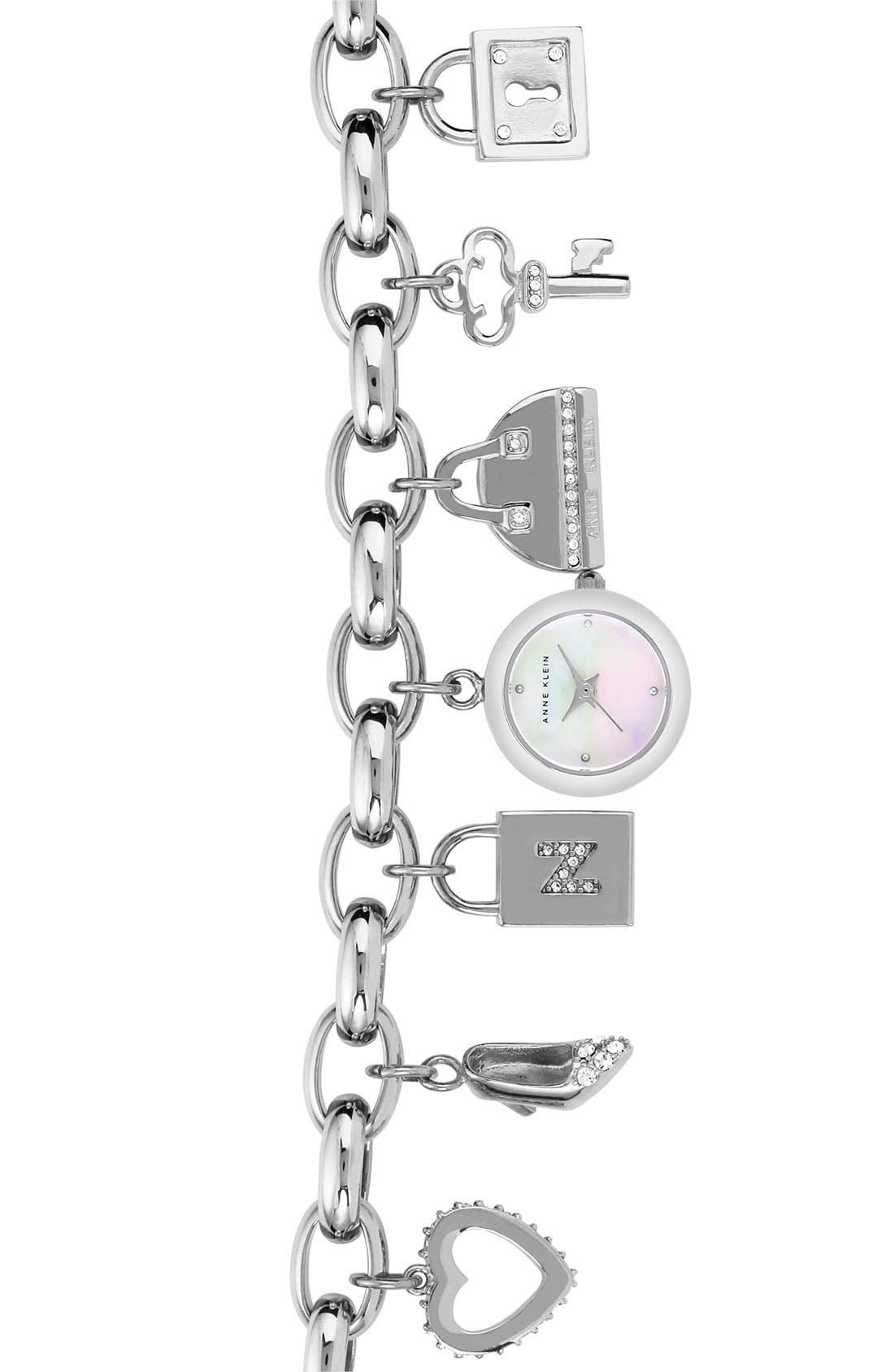 Main Image - Anne Klein Charm Bracelet Watch (Nordstrom Exclusive)