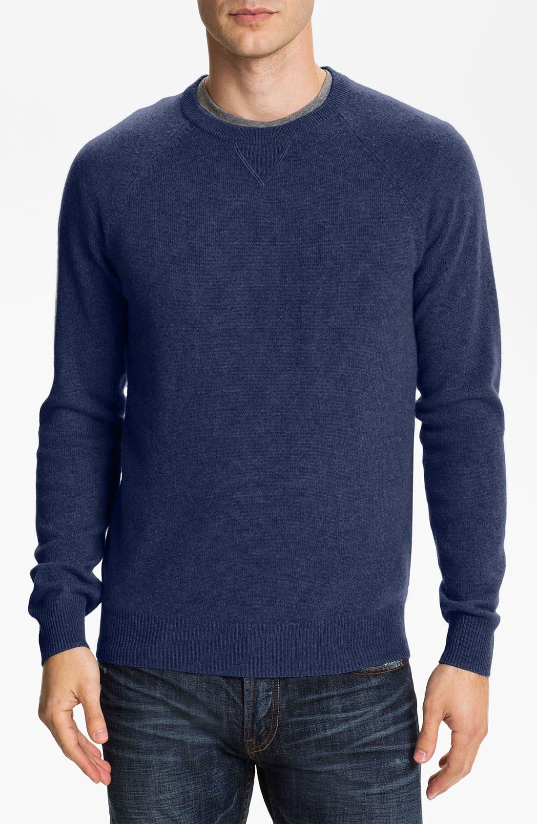 Main Image - 1901 Trim Fit Crewneck Cashmere Sweater