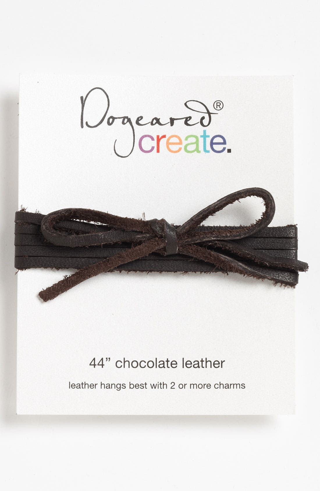 Alternate Image 1 Selected - Dogeared 'Create' Long Leather Necklace