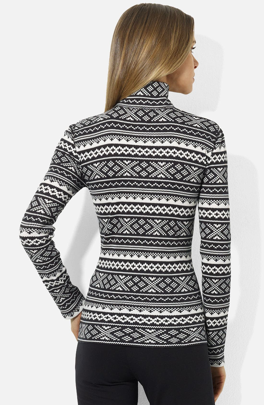 Alternate Image 2  - Lauren Ralph Lauren Half Zip Top (Petite) (Online Exclusive)