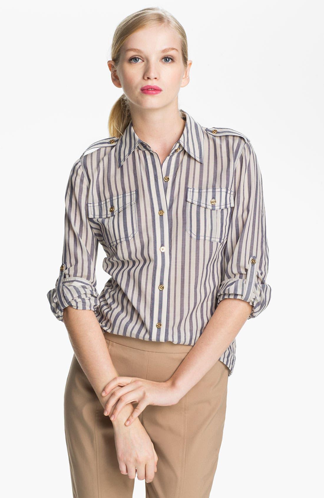 Main Image - Tory Burch 'Brigitte' Cotton Shirt