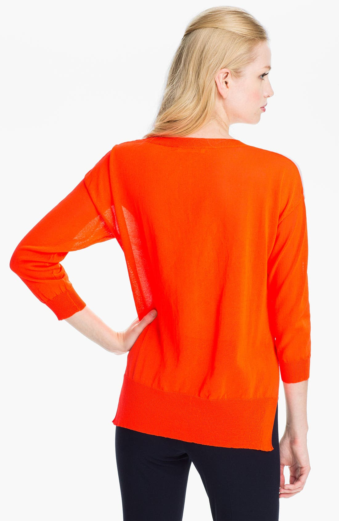 Alternate Image 2  - Rebecca Taylor Colorblock Sweater