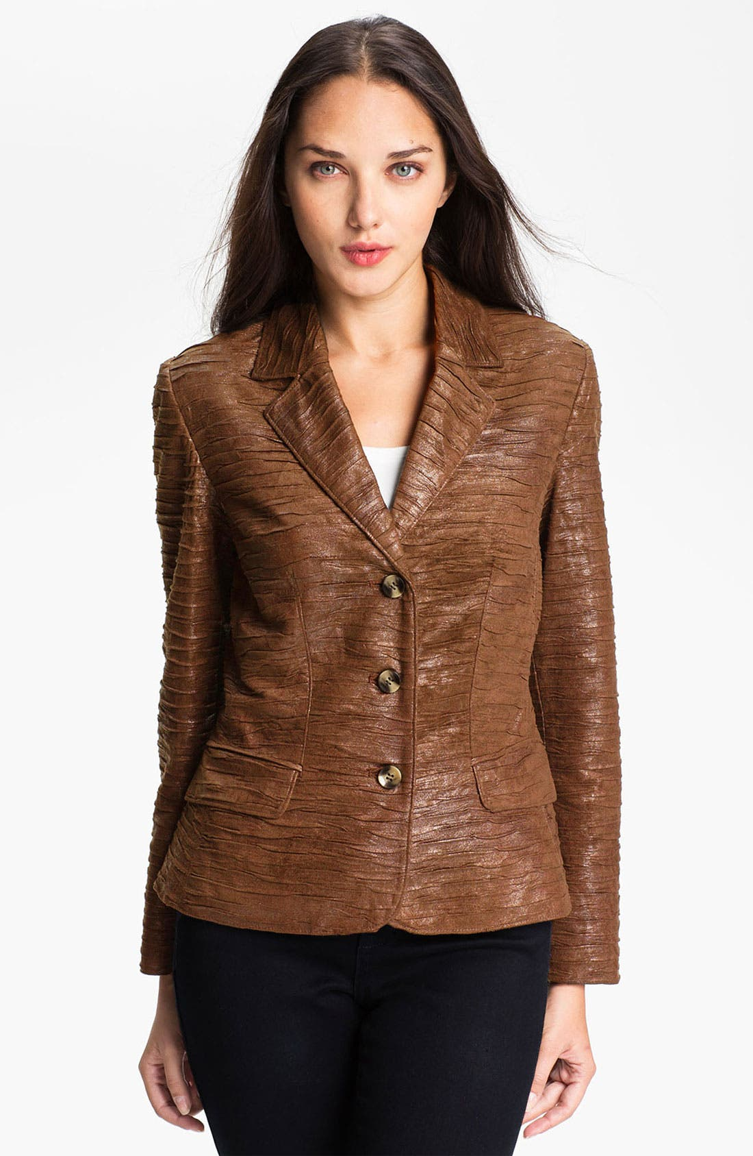 Main Image - Conrad C Collection Crushed Faux Suede Jacket