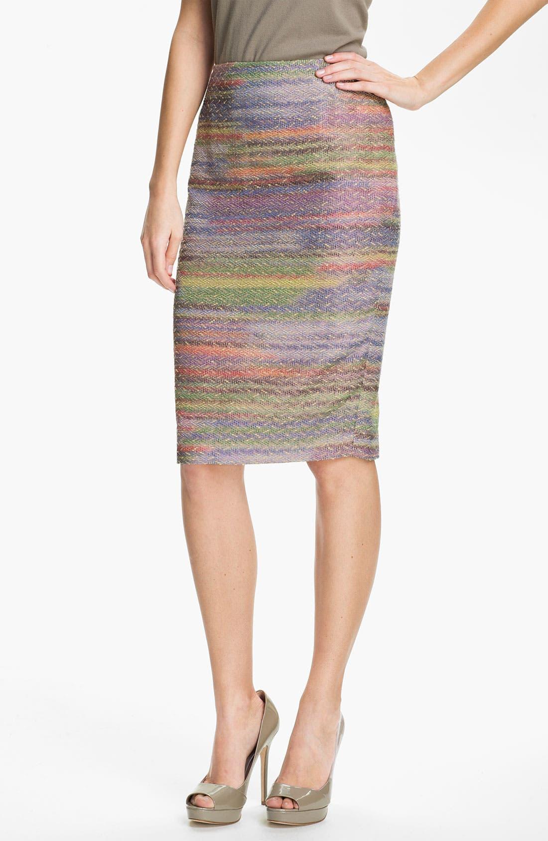 Alternate Image 1 Selected - Lafayette 148 New York 'Fete Novelty' Slim Skirt