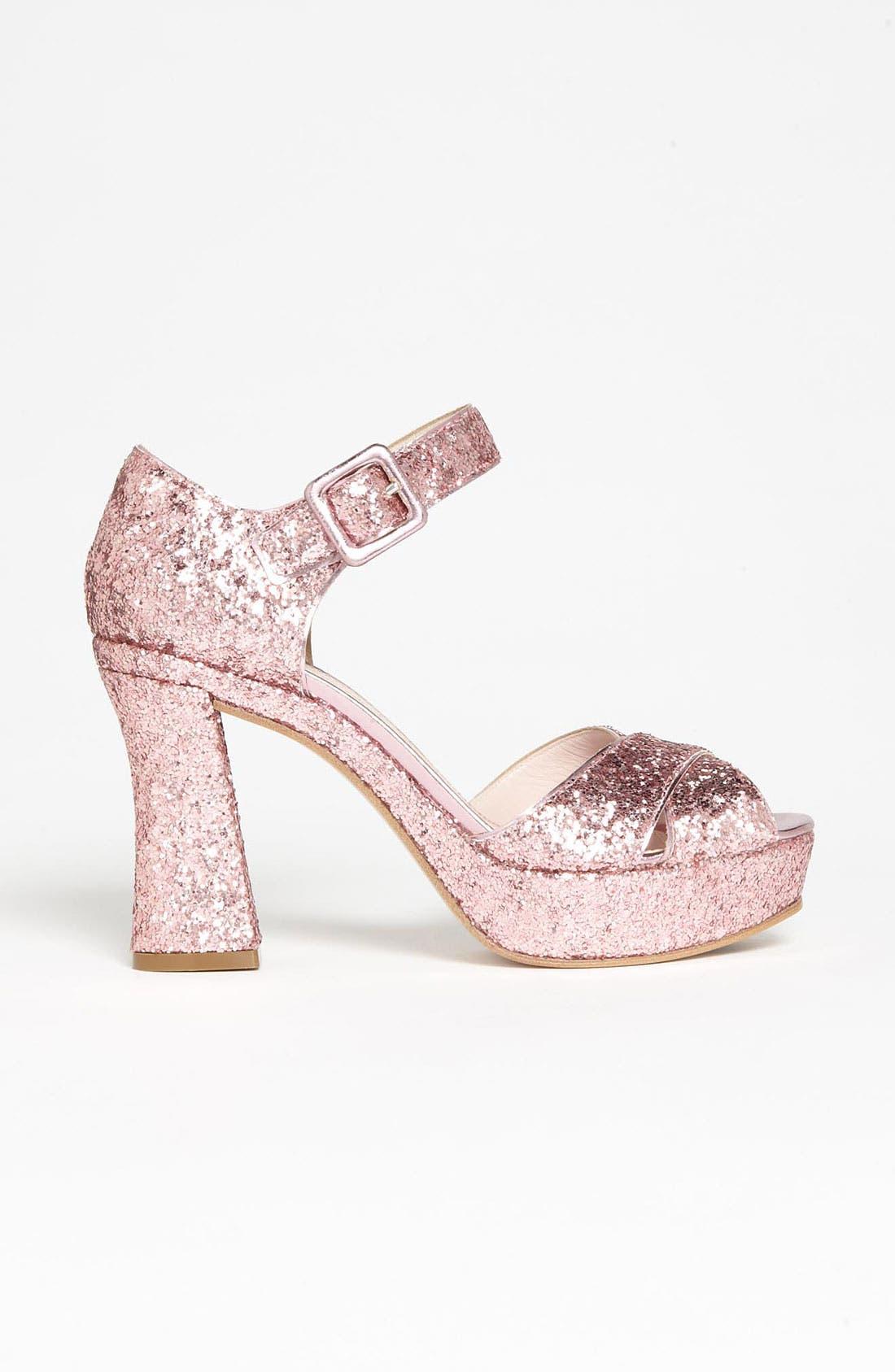 Alternate Image 4  - Miu Miu Glitter Block Heel Sandal
