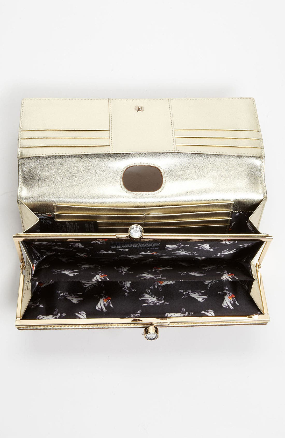 Alternate Image 3  - Ted Baker London 'Crystal Bobble - Extra Large' Calf Hair Matinee Wallet