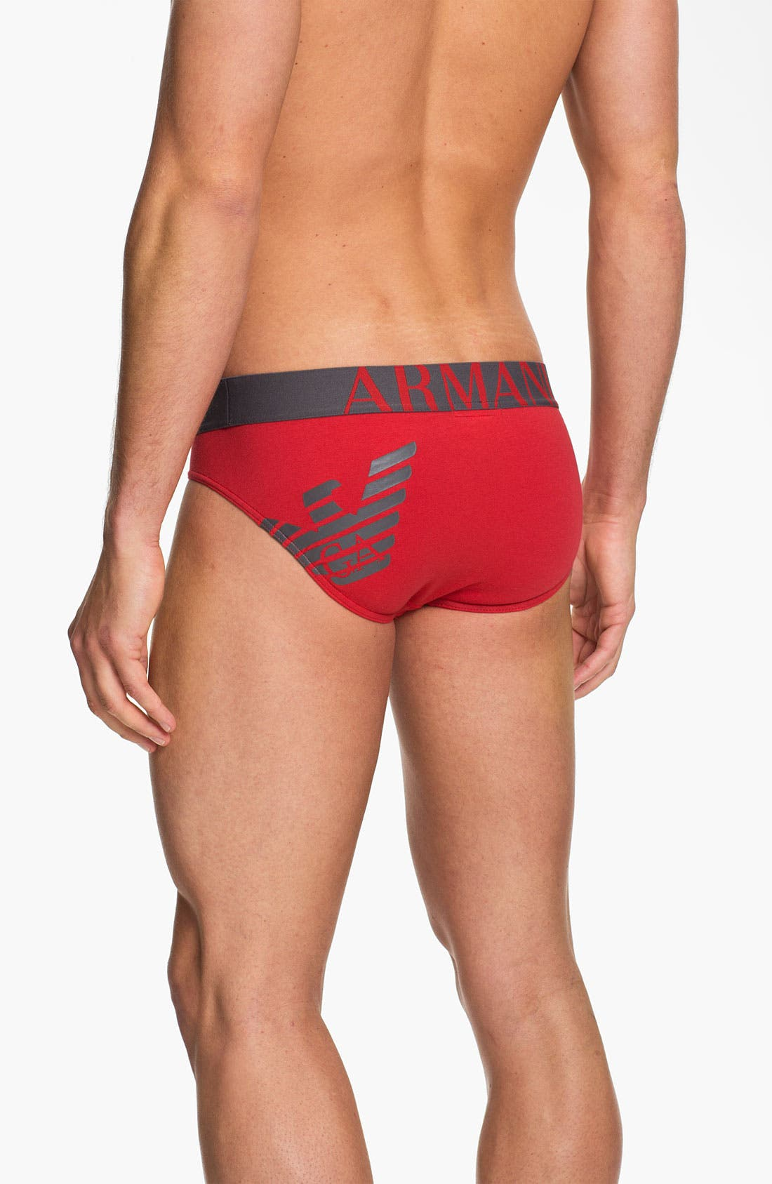 Alternate Image 2  - Emporio Armani 'Eagle' Stretch Cotton Trunks
