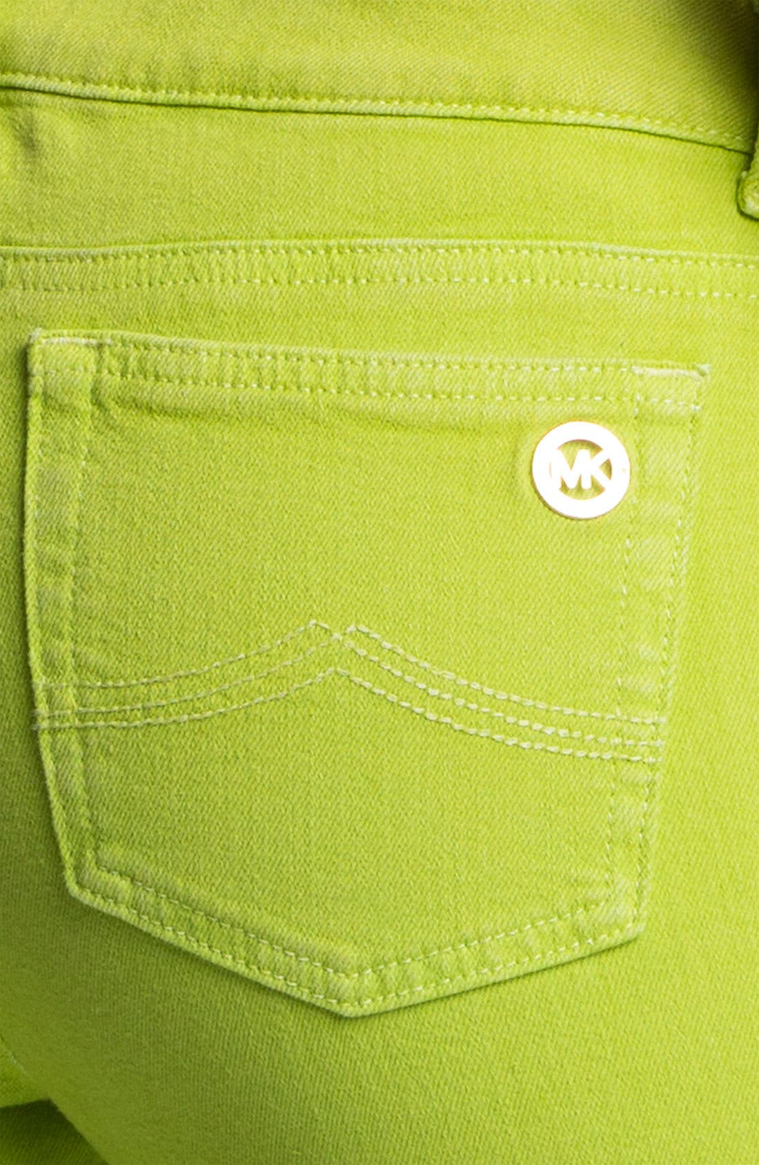 Alternate Image 3  - MICHAEL Michael Kors Color Skinny Jeans (Petite)