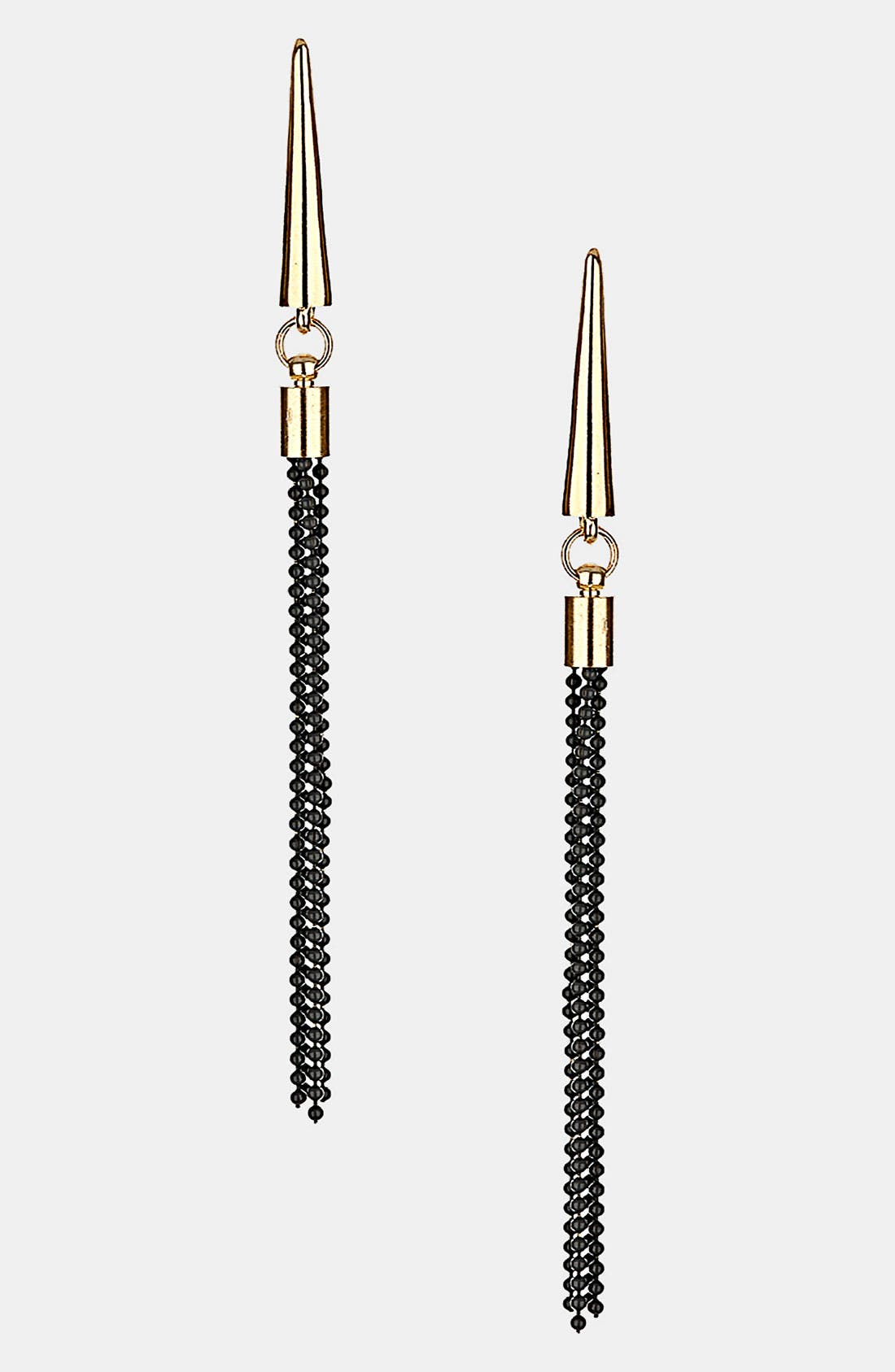 Alternate Image 1 Selected - Topshop Spike Chain Earrings