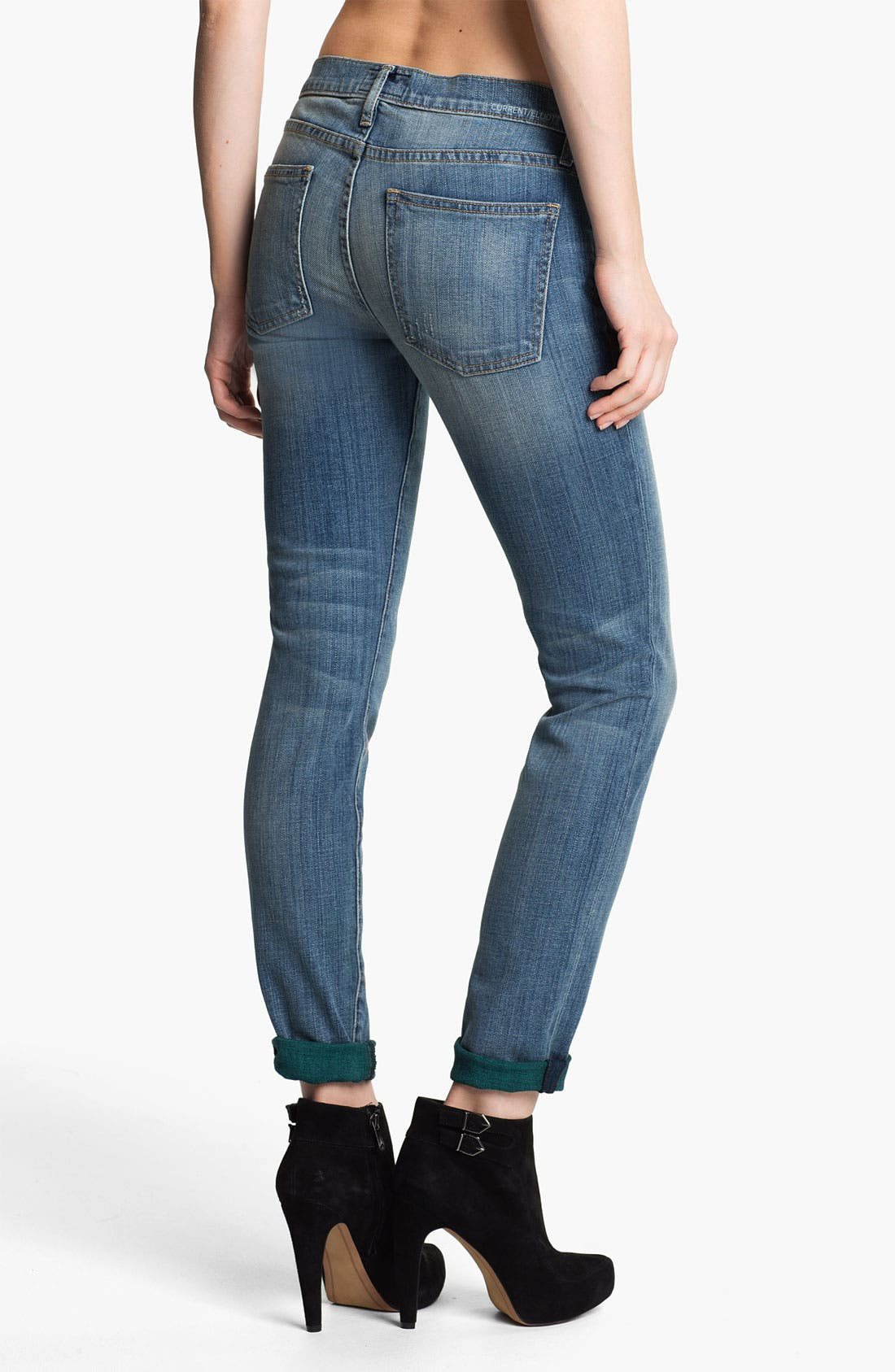 Alternate Image 2  - Current/Elliott 'The Rolled' Stretch Jeans (Baltic Super)