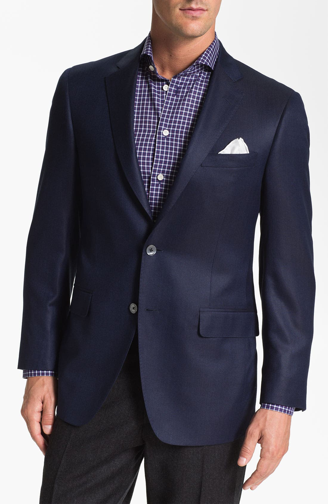 Alternate Image 1 Selected - Samuelsohn Herringbone Blazer