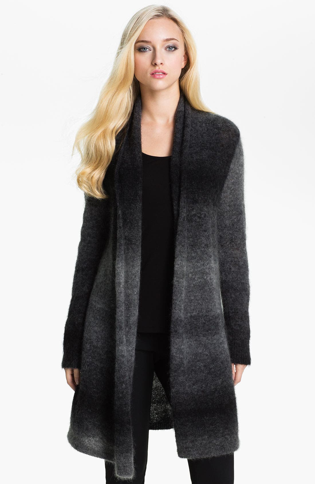 Alternate Image 1 Selected - Eileen Fisher Long Ombré Cardigan (Online Exclusive)