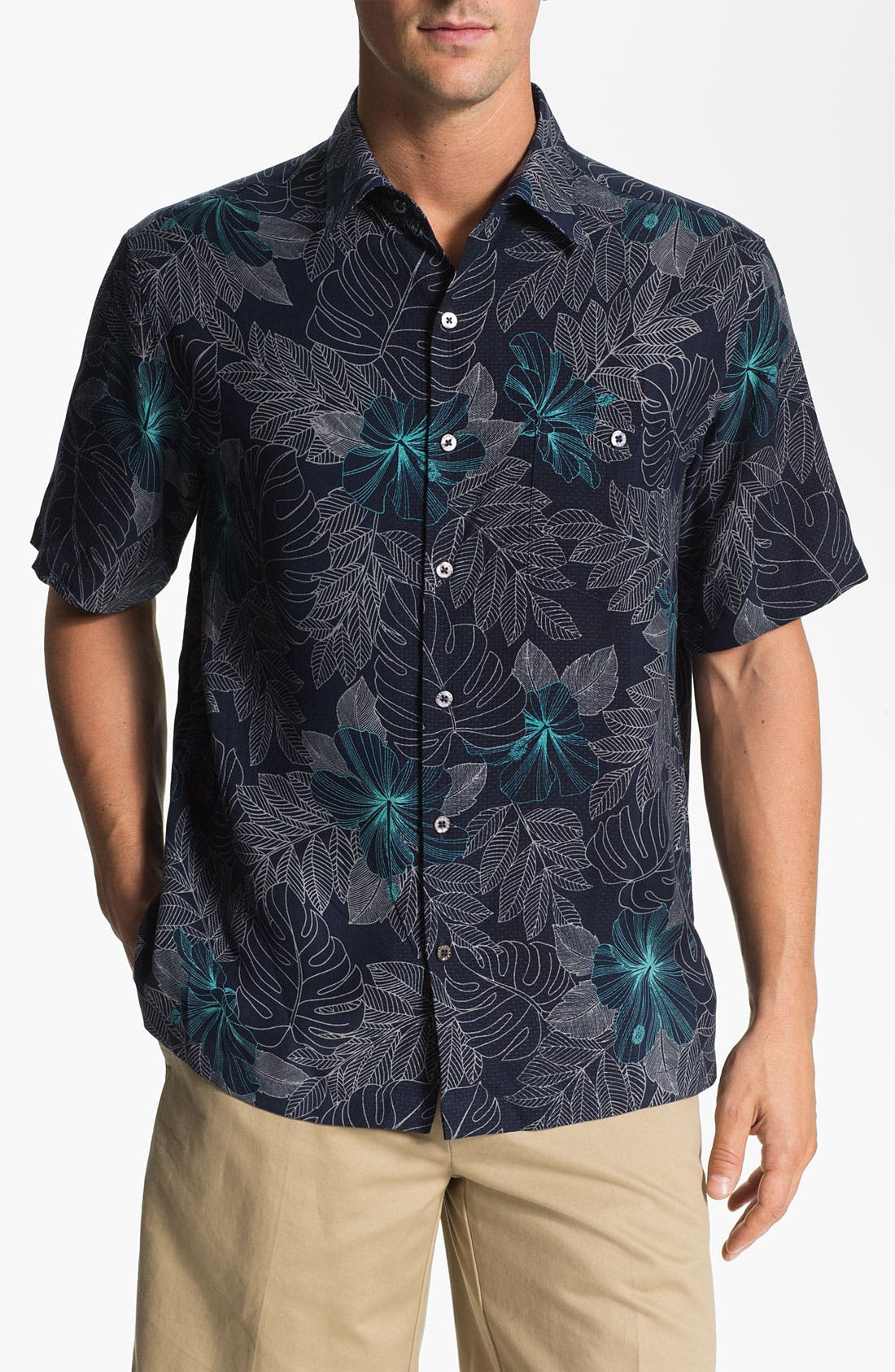 Alternate Image 1 Selected - Tori Richard 'Utopia' Silk Sport Shirt