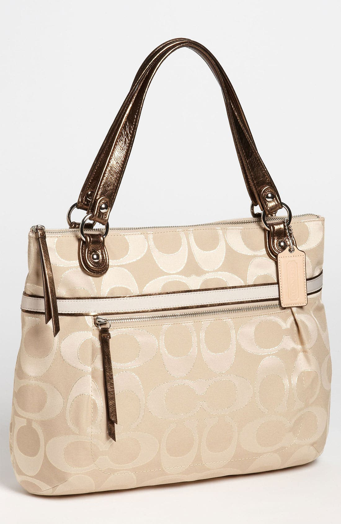 Alternate Image 1 Selected - COACH 'Poppy Signature Sateen - Glam' Tote