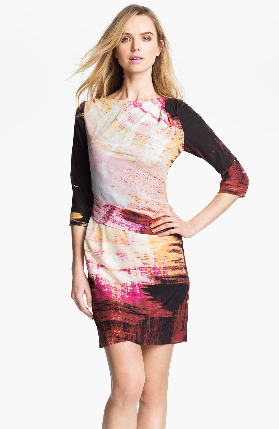 Alternate Image 1 Selected - Vince Camuto Abstract Print Jersey Dress