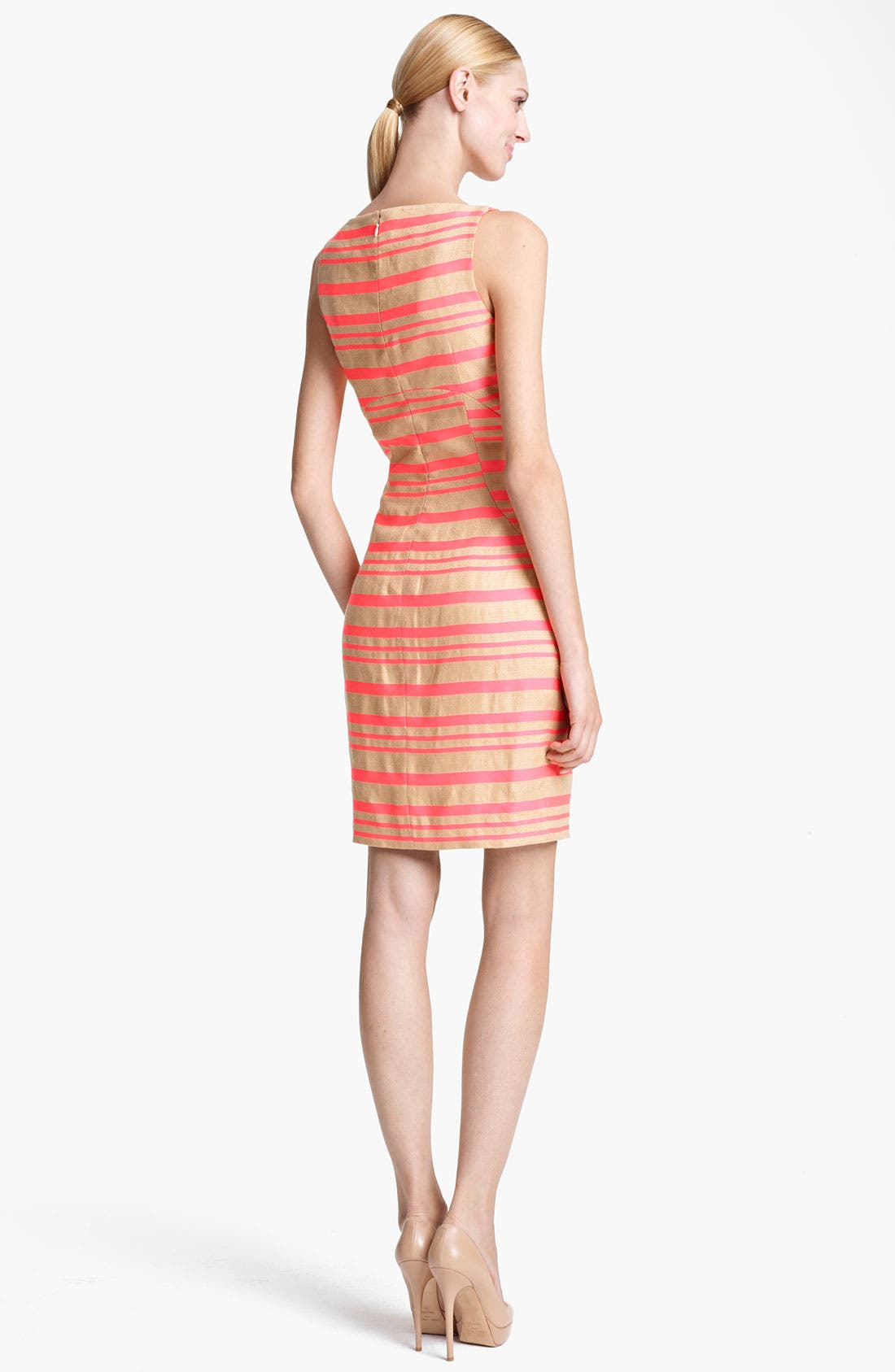 Alternate Image 2  - Thakoon Pink Stripe Sleeveless Sheath Dress