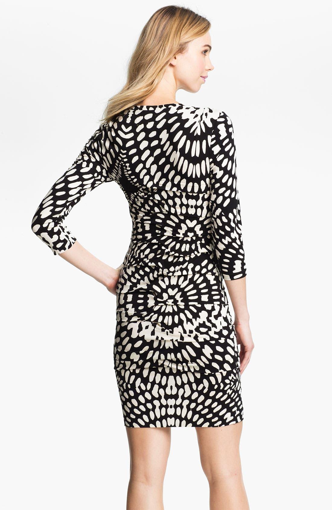 Alternate Image 2  - Nicole Miller Mosaic Print Ruched Jersey Sheath Dress