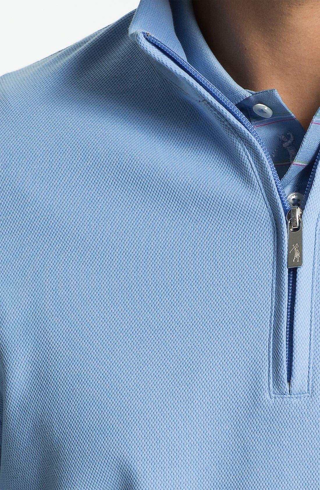 Alternate Image 3  - Bobby Jones Quarter Zip Jacquard Pullover