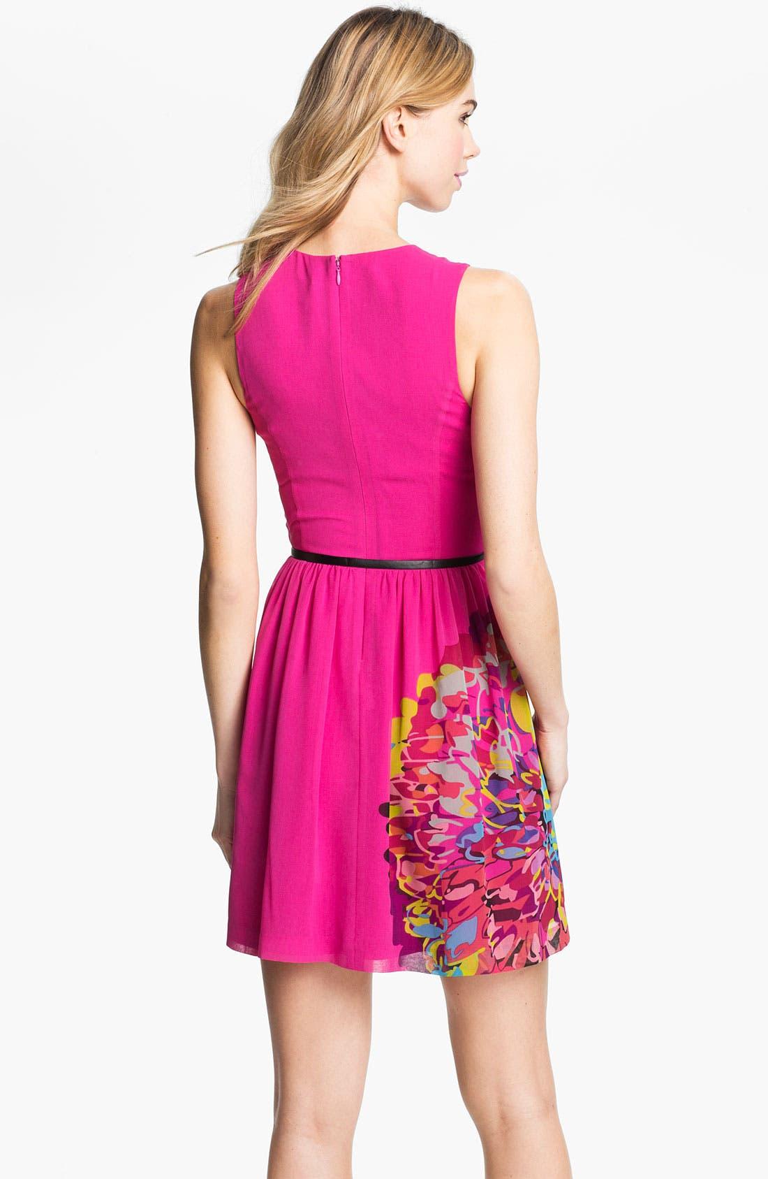 Alternate Image 2  - Kensie Placed Print Belted Dress
