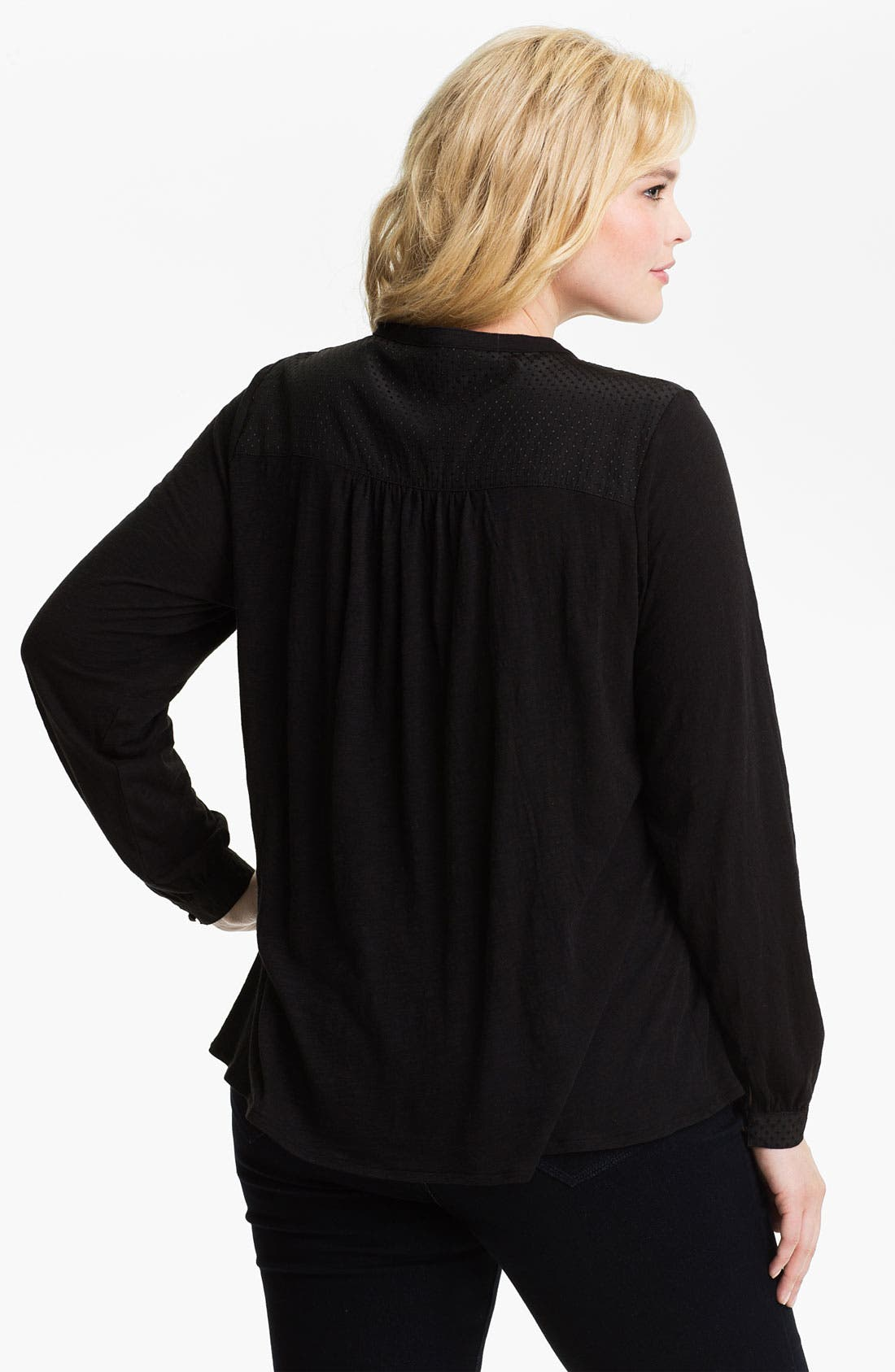 Alternate Image 2  - Lucky Brand 'Lexie' Peasant Top (Plus)