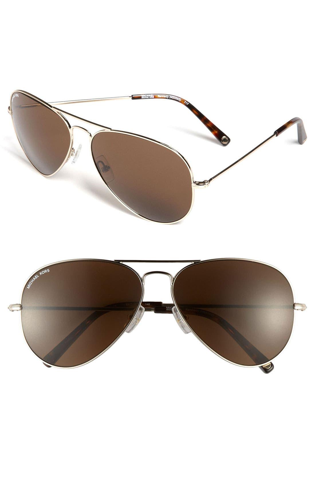 Alternate Image 1 Selected - MICHAEL Michael Kors 'Kennedy' 62mm Aviator Sunglasses
